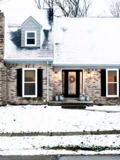 brick exterior home in winter