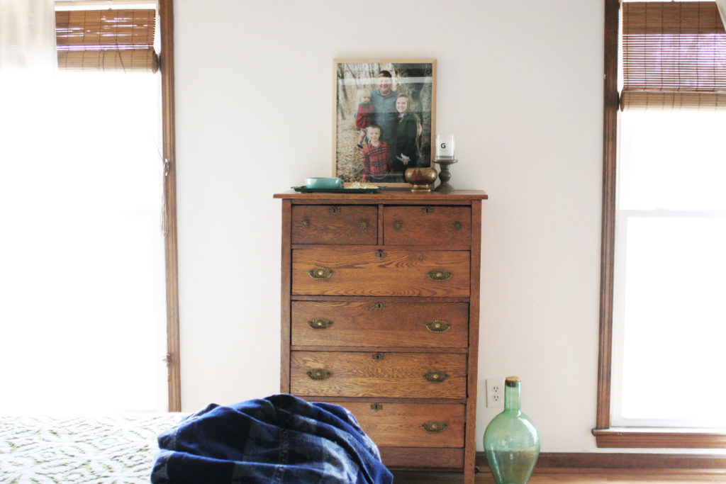 antique dresser in master bedroom, photo by Craftivity Designs