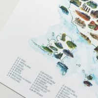 National Parks Map with Checklist