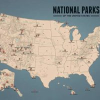 US National Parks Map