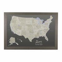 Push Pin Canvas Travel Map