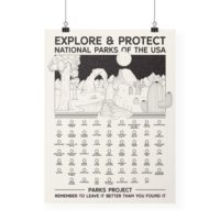 National Parks Fill-In Bubble Poster