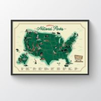National Park Map for Campers