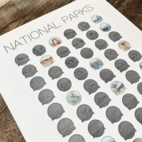 National Parks Poster Scratch Off Print