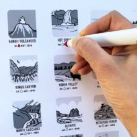 Black and White National Park Checklist