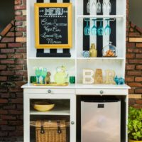 Upcycle a Hutch Into an Outdoor Bar and Buffet