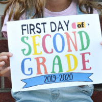 Colorful Free First Day of School Sign