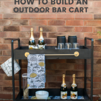 How to Build a Rolling bar cart