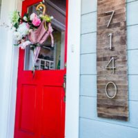 DIY Paint Stick House Numbers Sign