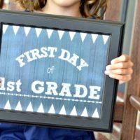 Chalkboard Style Back to School Printable
