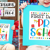 First Day of School Sign in 3 Color Versions