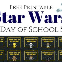 Star Wars First Day of School Signs