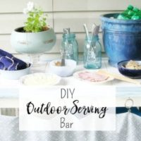 DIY Outdoor Serving Bar