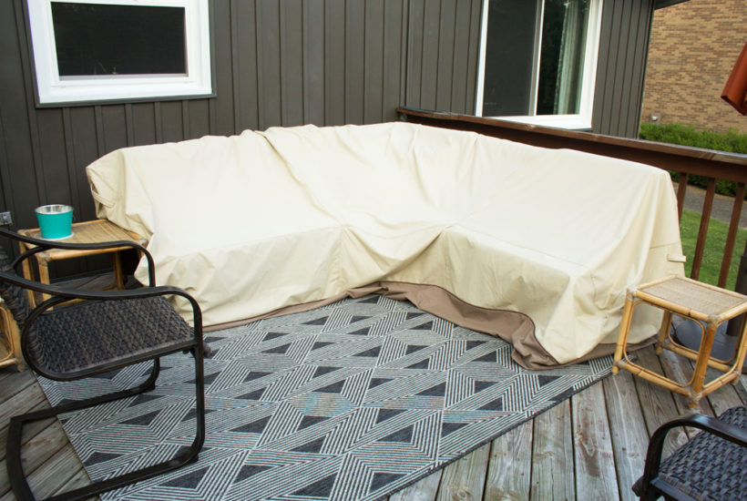 v shaped sofa outdoor furniture cover