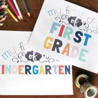 Document the New School Year with First Day of School Free Signs
