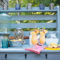 DIY Potting Bench and Outdoor Server
