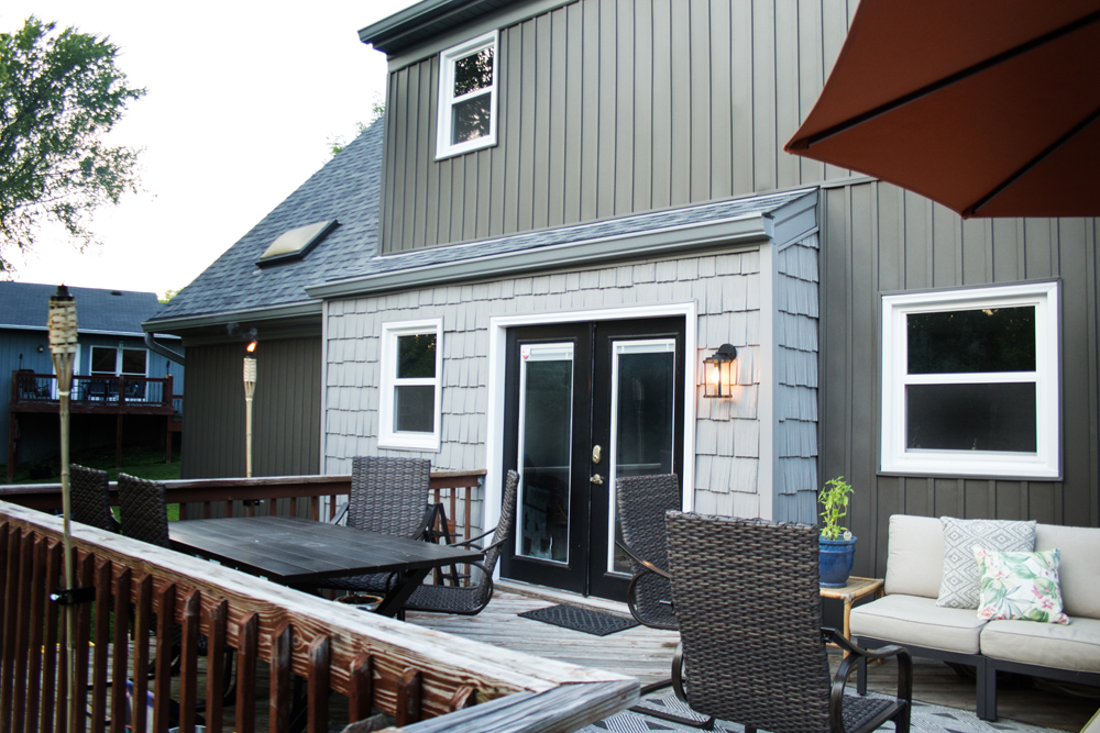 Modern Cottage Remodel with Board and Batten and Cedar Shake Siding Exterior by Craftivity Designs