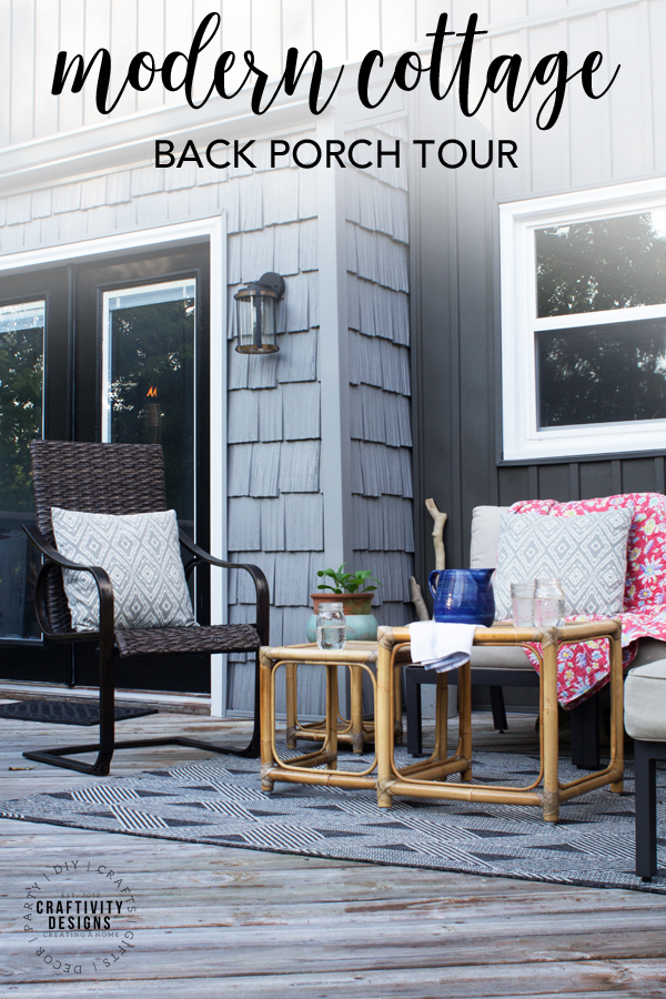 Modern Cottage Back Porch Tour