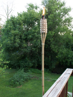 tiki torch deck mount, deck clamp