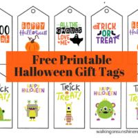 Printable Halloween Gift Tags | Walking On Sunshine Recipes