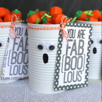 Adorable Tin Can Ghost Halloween Gift