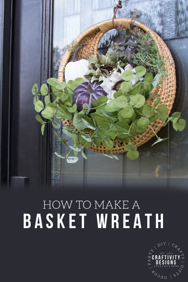 how to make a basket wreath for the front door