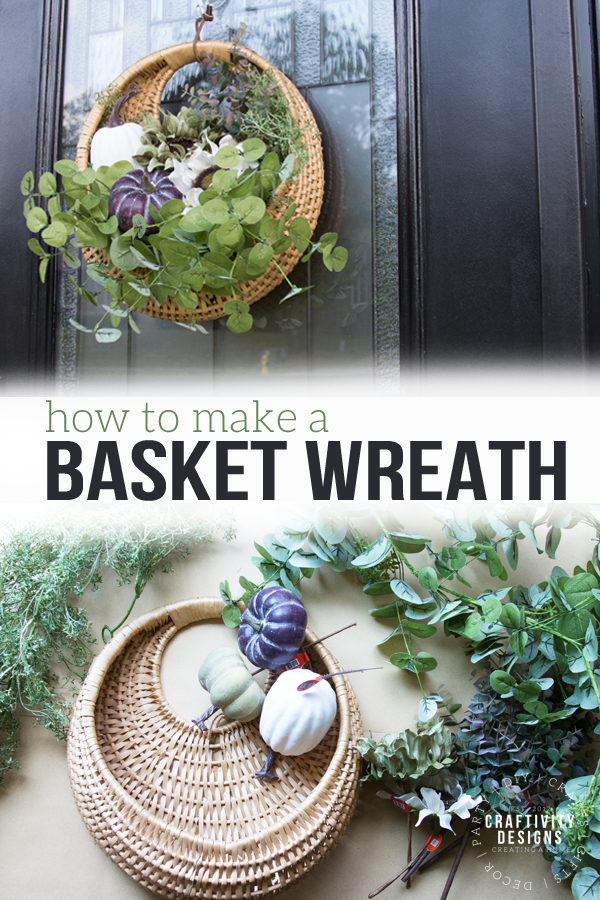 how to make a basket wreath