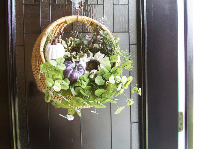 How to Make a Hanging Door Basket with Flowers