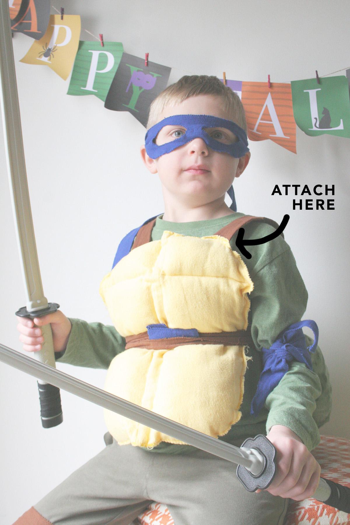 shoulder attachment for ninja turtle costume