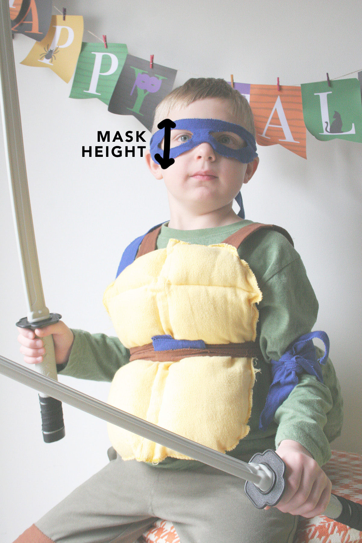mask measurement for ninja turtle costume
