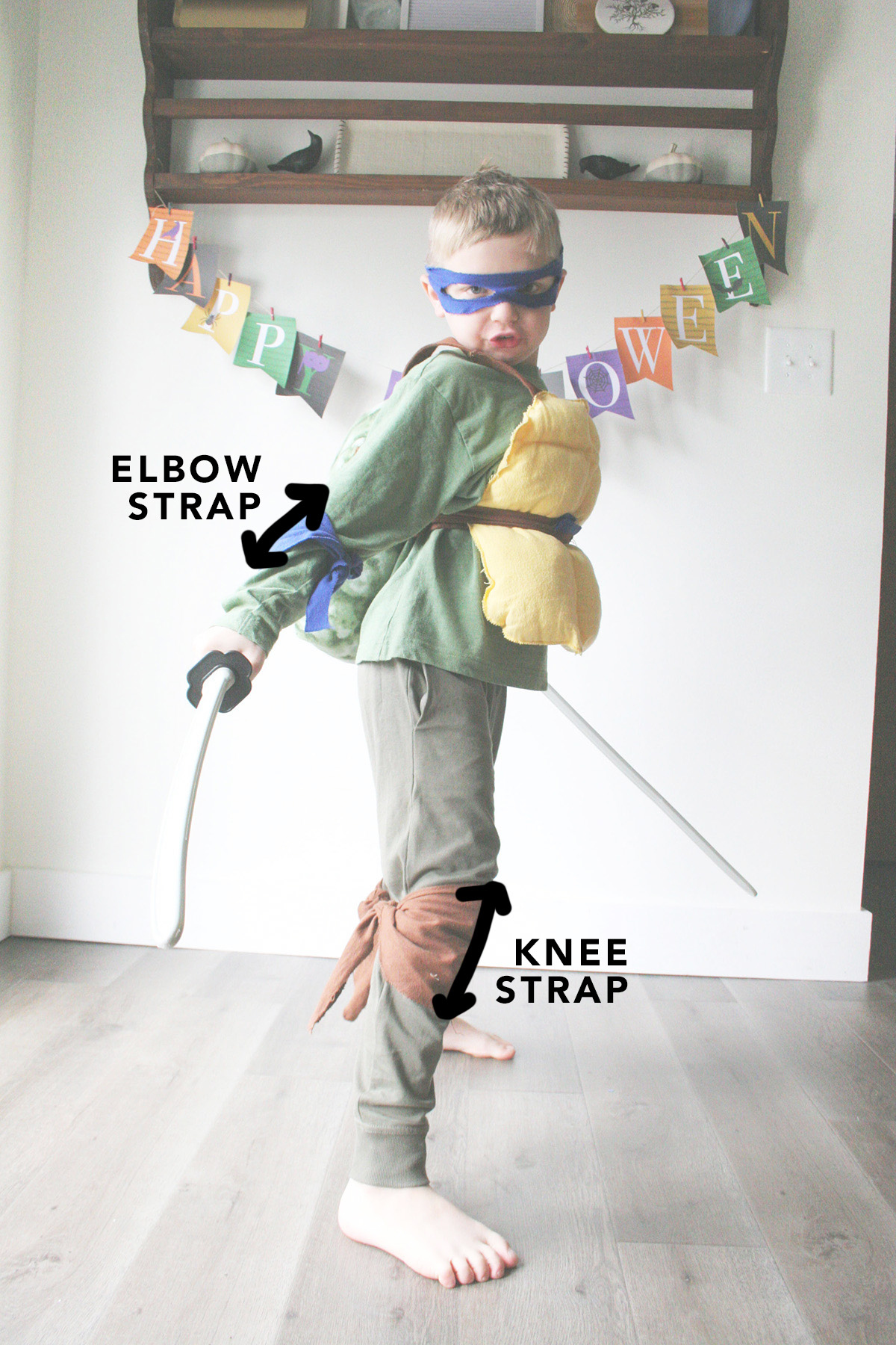 knee and elbow measurement for ninja turtle costume
