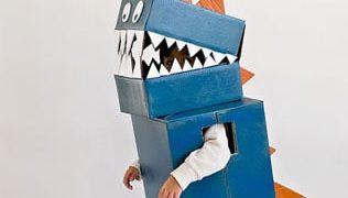 DIY Cardboard Dinosaur