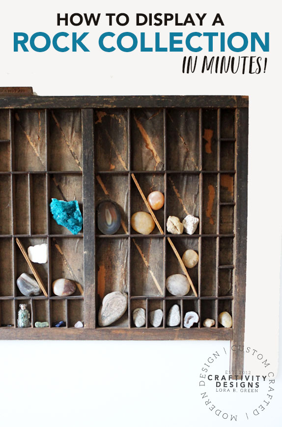 How to Display a Rock Collection in minutes! by Craftivity Designs