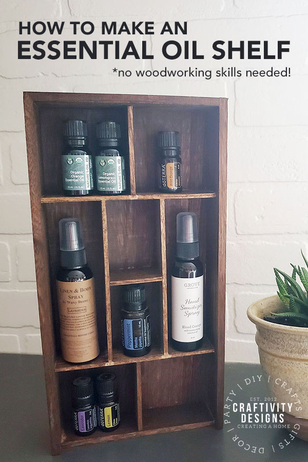 How to Make an Essential Oil Shelf - no woodworking skills needed!