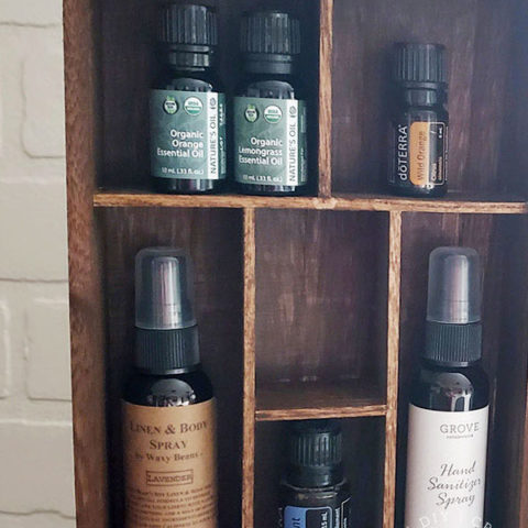 How to Make an Essential Oil Wall Shelf