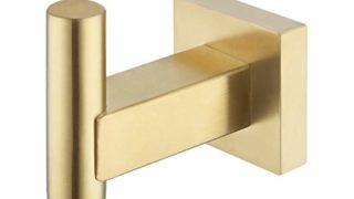 Brushed Brass Square Heavy Duty Hook