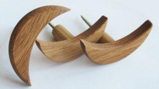 Modern Oak Wood Wall Hooks