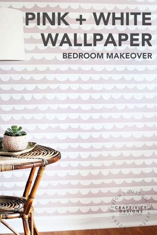 Pink and White Wallpaper Bedroom Makeover
