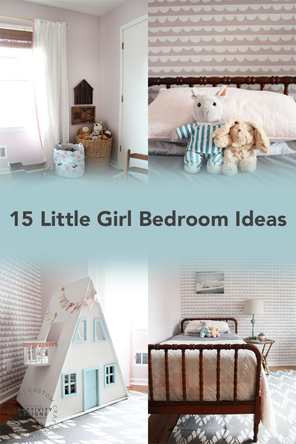 15 Little Girl Bedroom Ideas featuring a Pink Bedroom by Craftivity Designs