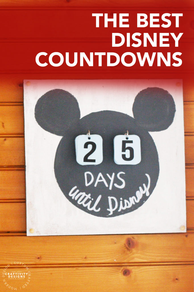 "The Best Disney Countdowns! Featuring a DIY black and white ""Days until Disney"" sign"