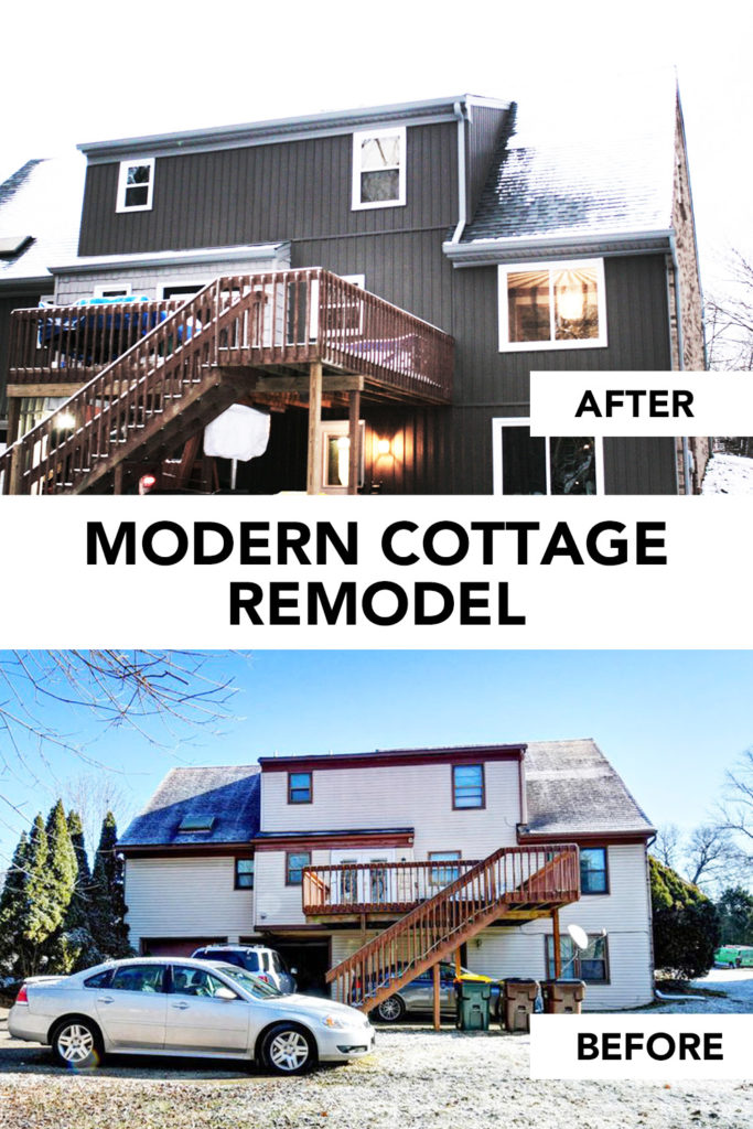 Modern Cottage Remodel, Siding Exterior Before and After by Craftivity Designs