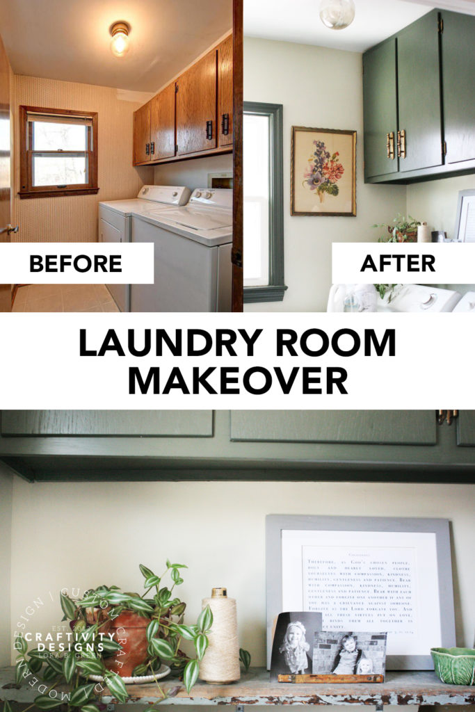 Laundry Room Makeover by Craftivity Designs