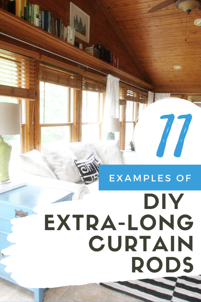 11 Extra Long Curtain Rod Ideas That You Can Make Craftivity Designs