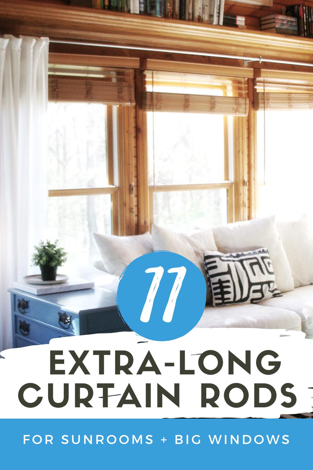 11 Extra Long Curtain Rod Ideas That