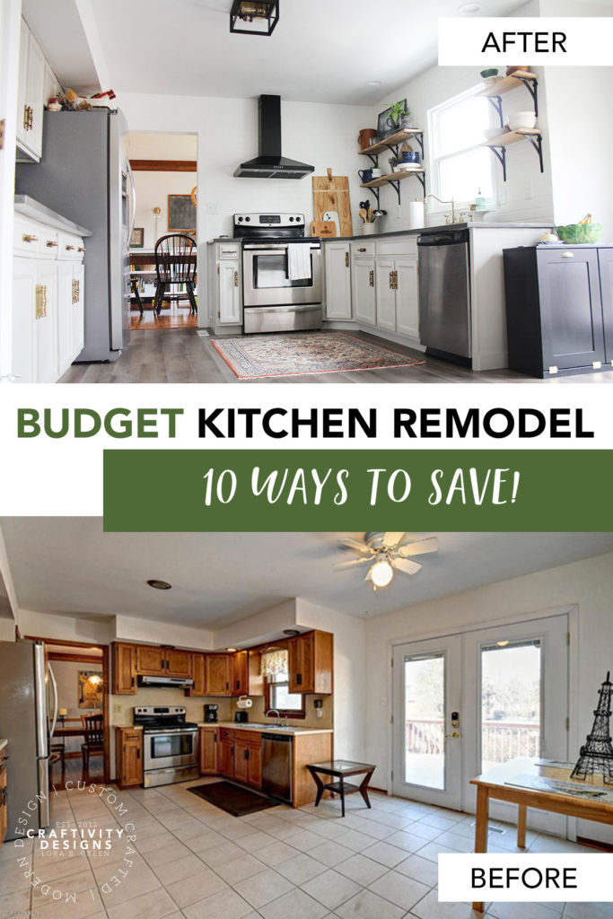Budget Kitchen Remodel Before and After with 10 Ways to Save Money!