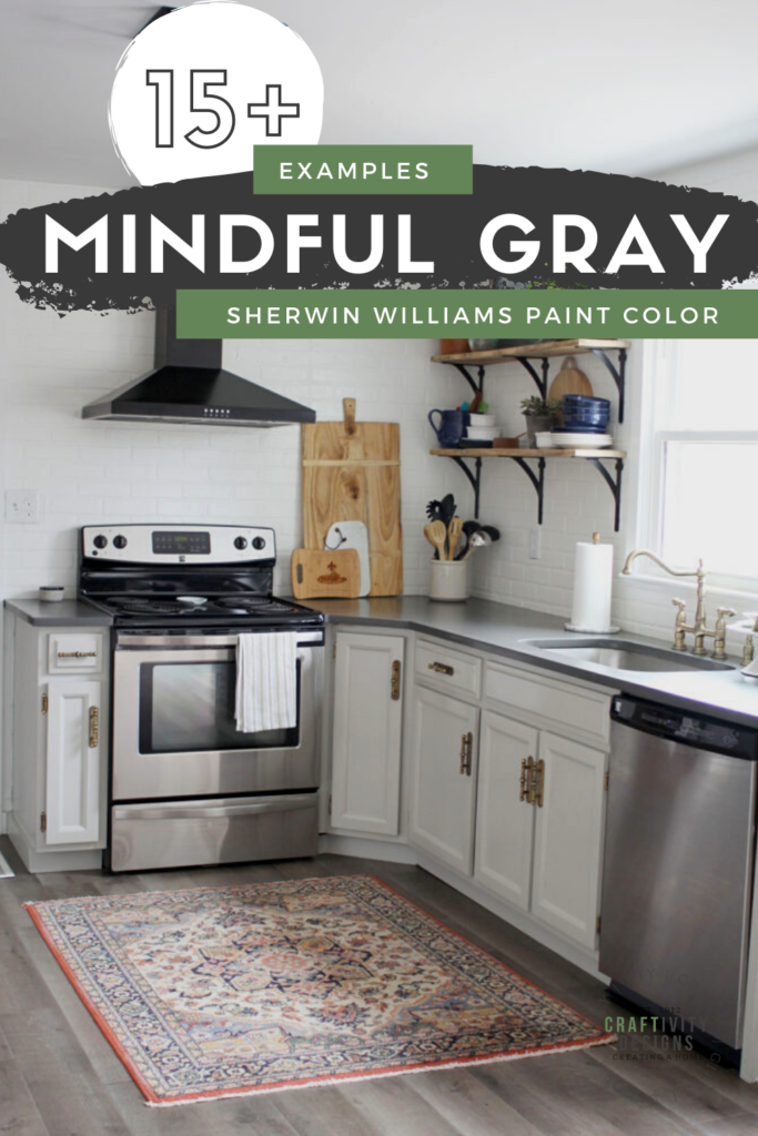 15 Rooms With Mindful Gray By Sherwin, Best Paint Color For Kitchen Walls With Grey Cabinets