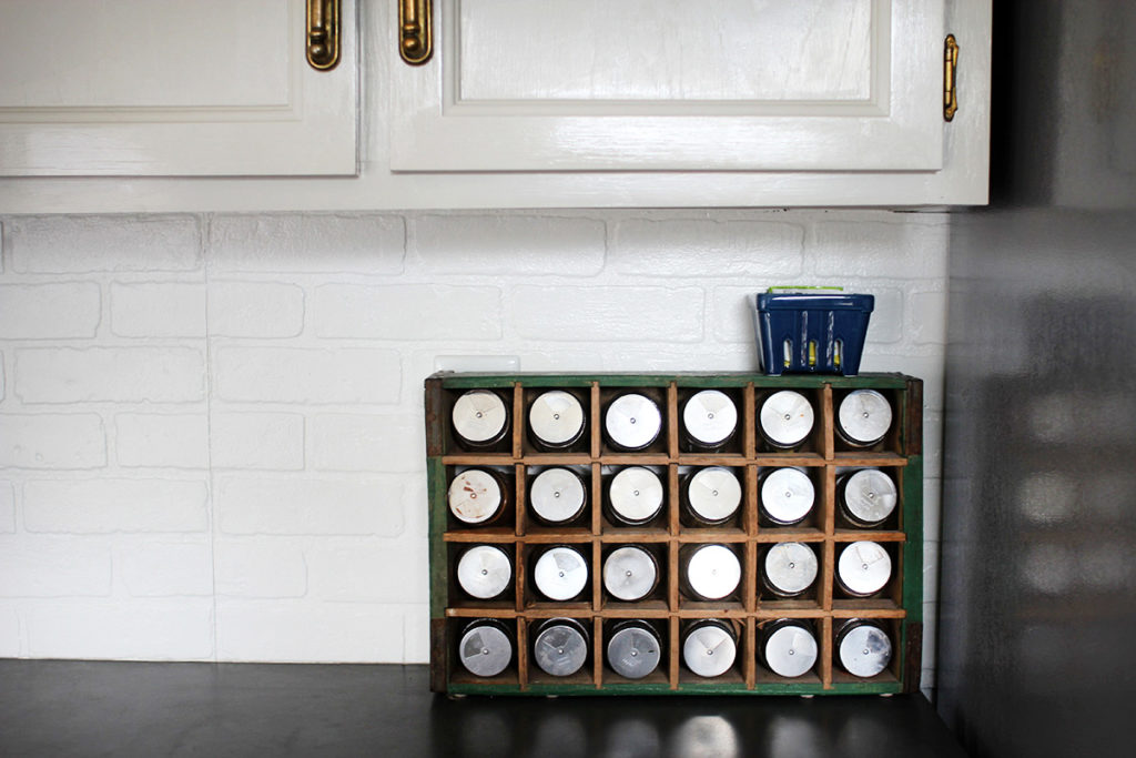 Store spaces in a soda crate