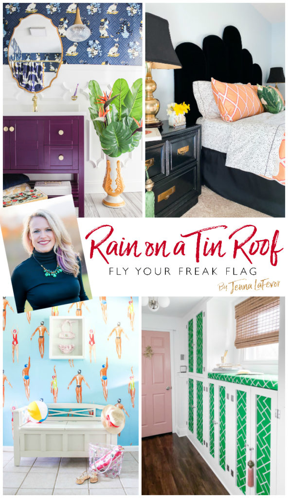 Rain on a Tin Roof - Colorful, Eclectic, Glam Style