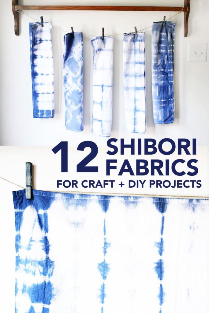 12 Shibori Fabrics by the yard for Craft and DIY Projects