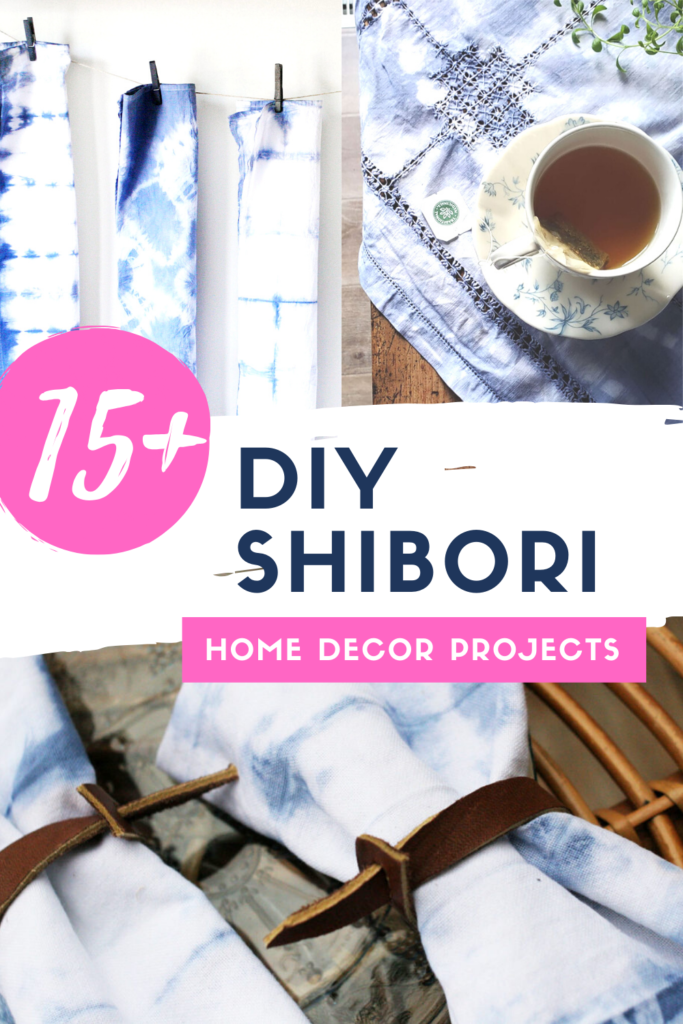 diy shibori home decor projects